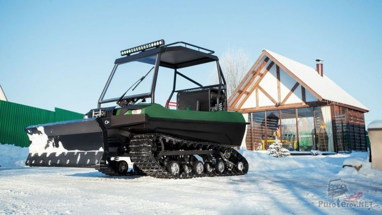 Вездеход Tinger Scout 690 со снежным отвалом