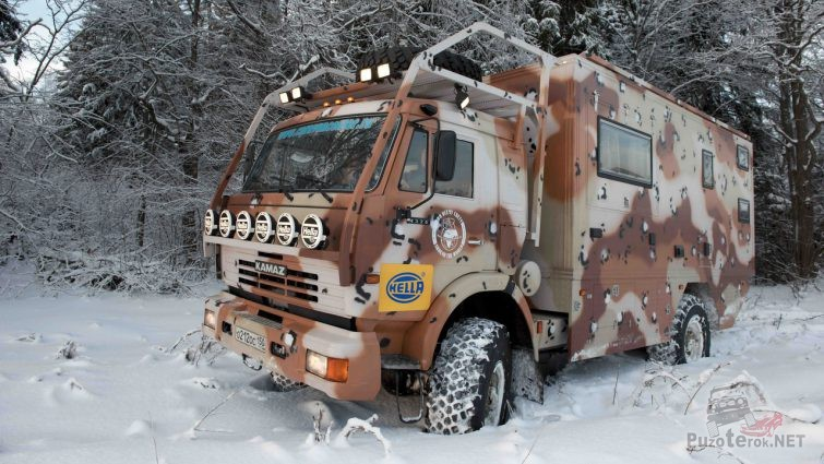 Автодом Ковчег на базе Камаза 4x4