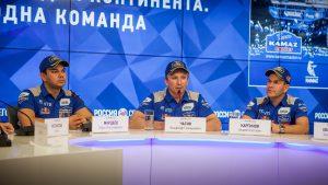 Гонщики Камаз-Мастер на пресс-конференции