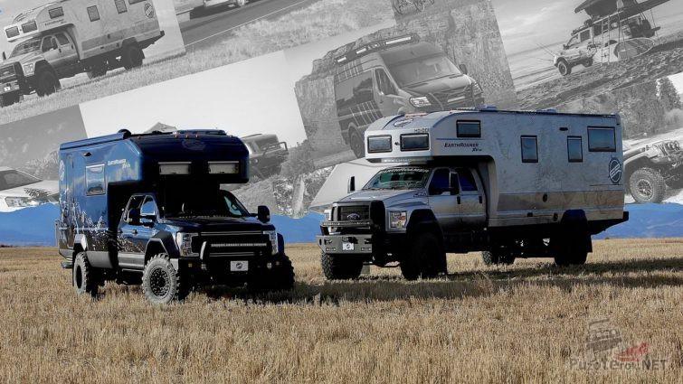 Оборудованные жилым модулем пикап и грузовик