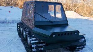 Вездеход Егоза с кабиной на снегу
