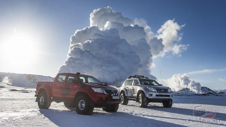 Хайлюкс и Прадо на колёсах Арктиктракс