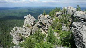 Камень Полюд на реке Вишера