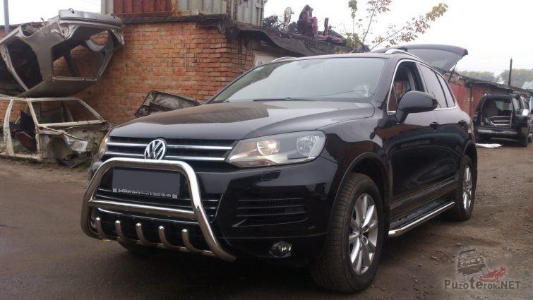 Кенгурятник на Volkswagen Touareg