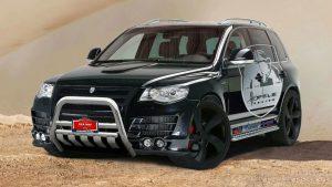 Кенгурятник на гоночном Volkswagen Touareg