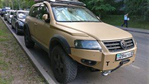 Лебёдка и силовой бампер Volkswagen Touareg