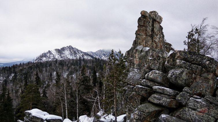 Скала в Уральских горах