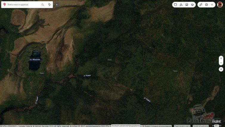 Спутниковая карта Ядерного озера