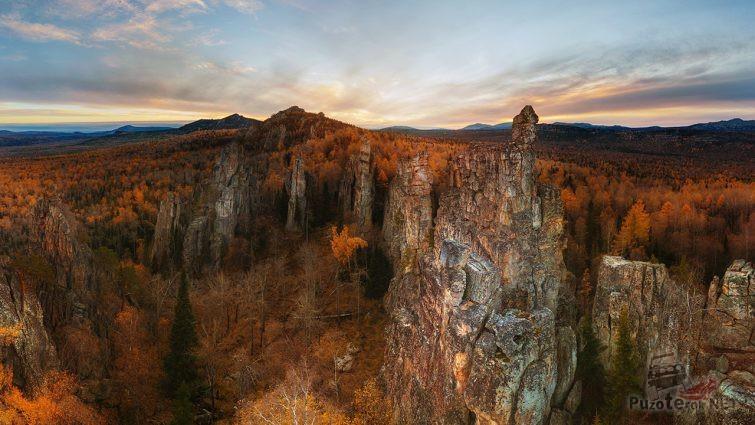 Уральские горы осенью