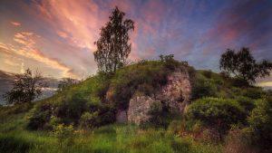 Вечерний пейзаж урочища Каменная Гора