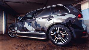 Volkswagen Touareg камуфляжной раскраски