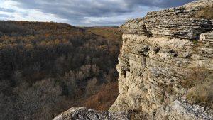 Воргольская скала над осенним лесом