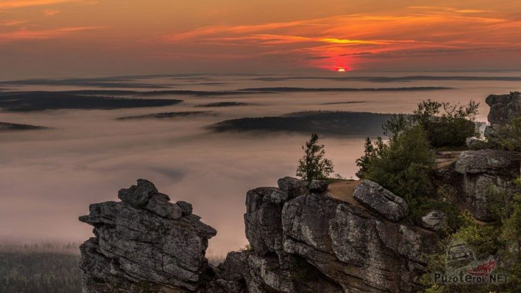 Закат на Полюдовом камне