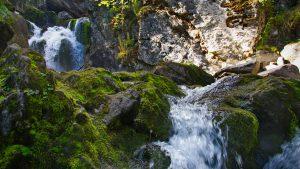 Каскад водопадов на реке Жигалан