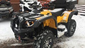 Stels Leopard 600 Y в снежную погоду