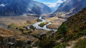 Долина среди Алтайских гор