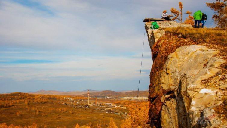 Экстремальные туристы в осенней Хакасии