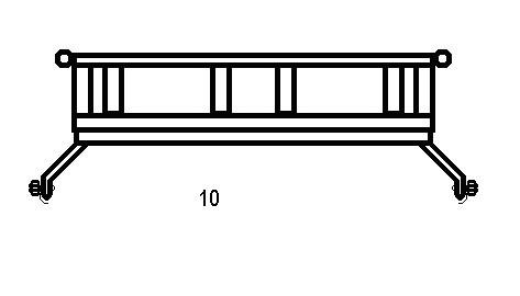 Фронтальная схема багажника