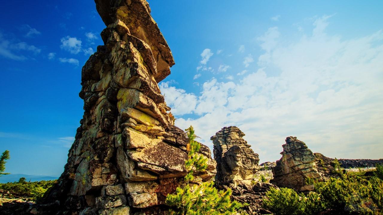 Харашибирские столбы в Бурятии