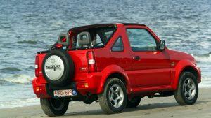 Красный Джимни в виде кабриолета