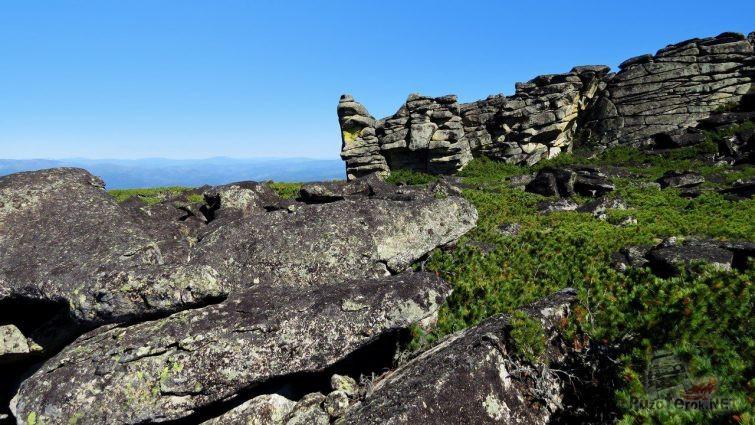 На вершине хребта Улан-Бургасы