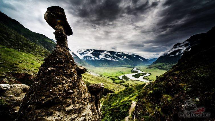 Низкие облака над долиной Чулышмана