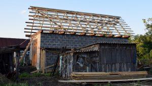 Обрешётка крыши гаража