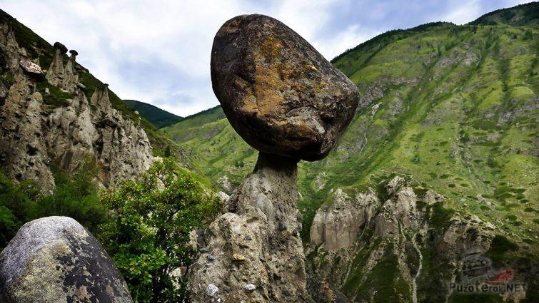 Огромный валун - шляпка гриба