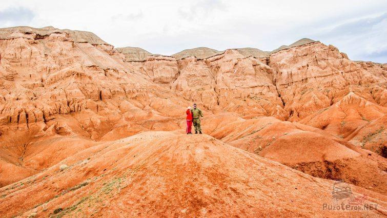 Пара туристов в Красных Горах