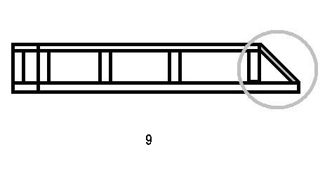 Передняя часть багажника