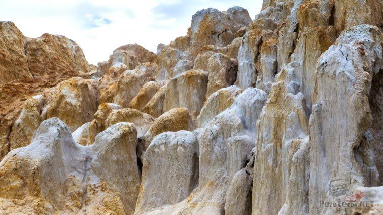 Размытые озёрной водой глинистые сопки