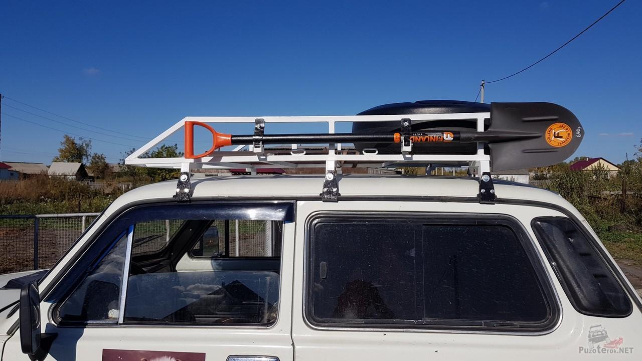 Самодельный багажник на Ниву
