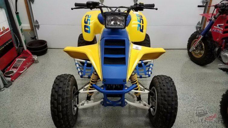 Suzuki QUADRUNNER F250 жёлто-синего цвета