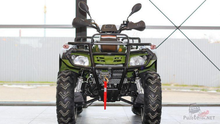 Улучшенный Stels ATV 300 у окна