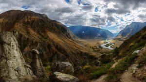 Вид на долину от каменных грибов