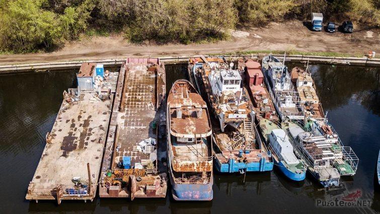 Вид сверху на Остров погибших кораблей
