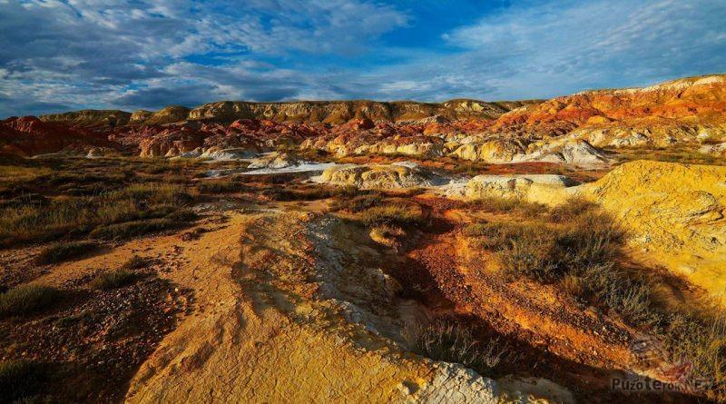 Внеземной пейзаж Восточного Казахстана