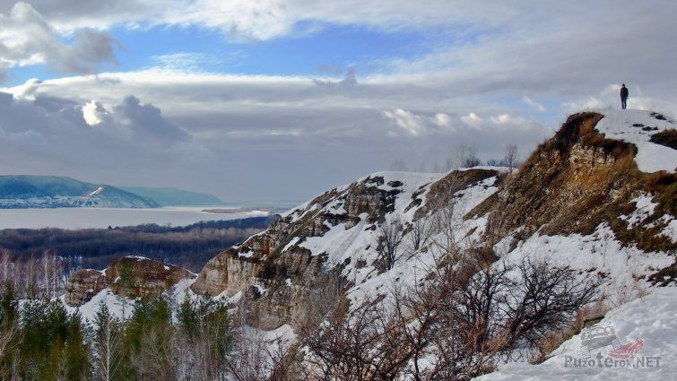 Жигулёвские горы ранней зимой