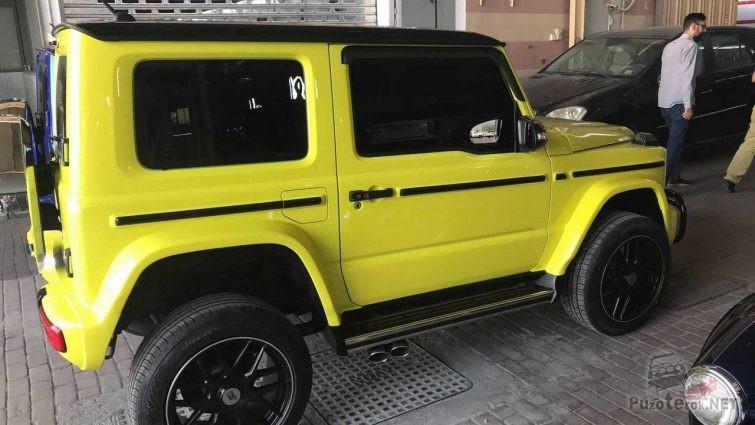 Жёлтый Suzuki Jimny похож на гелик