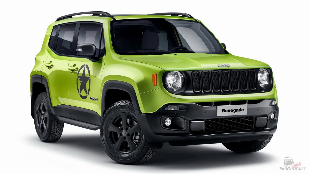 Зелёный Jeep Renegade от Mopar