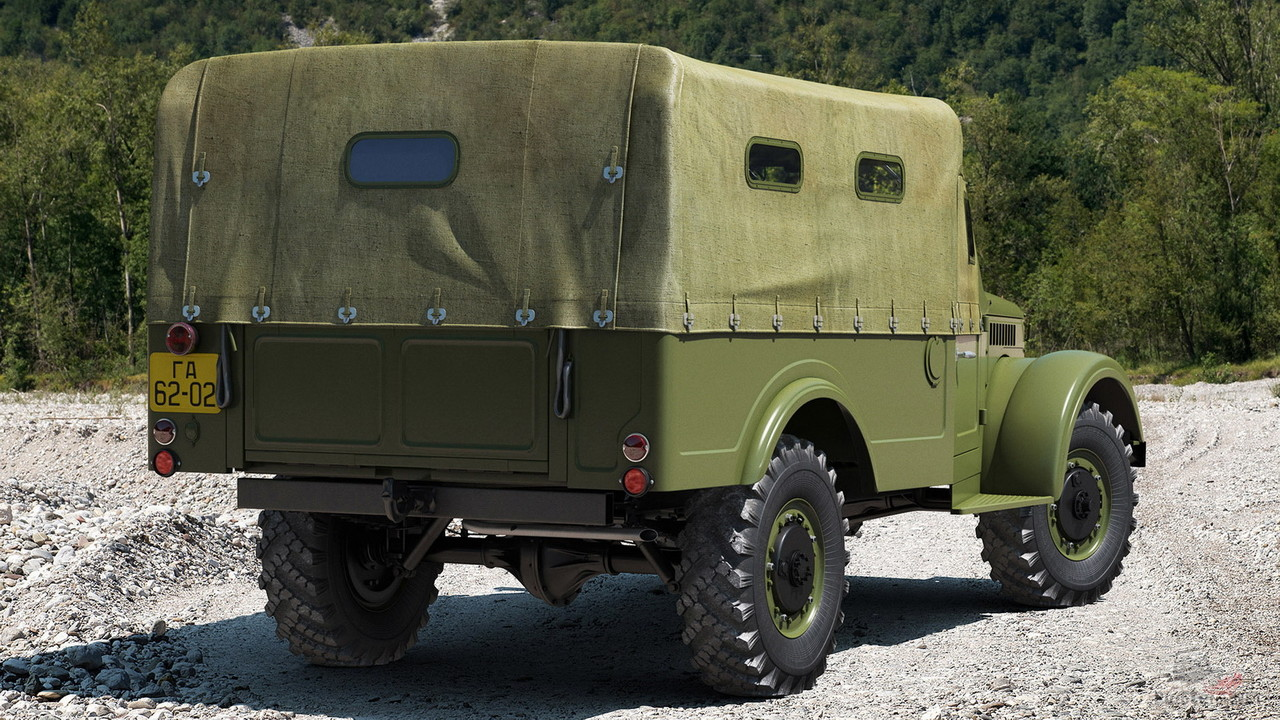 ГАЗ-62, вид сзади