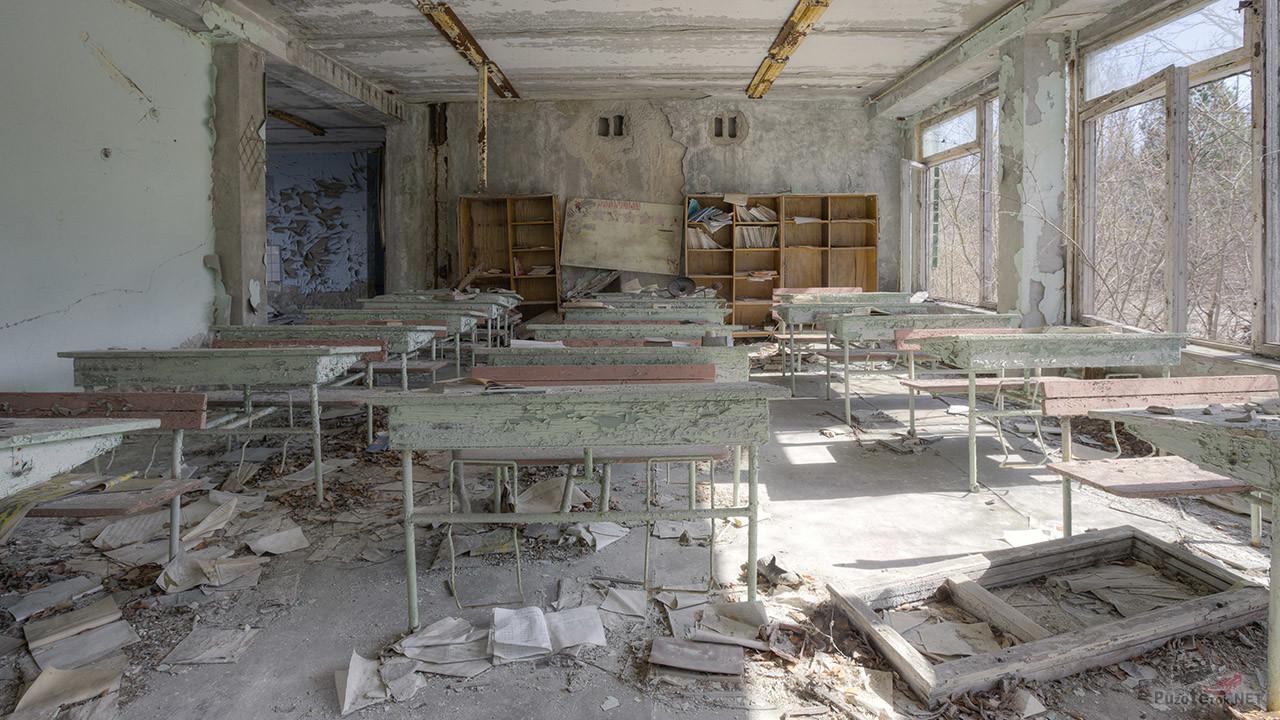 Класс в заброшенной школе