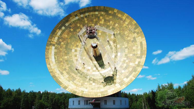 Одна из антенн ЦКС Медвежьи Озёра - в Калязинском филиале