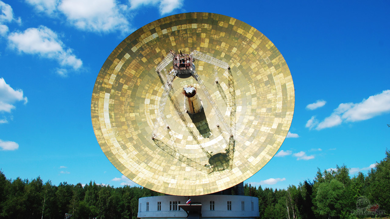 Одна из антенн ЦКС Медвежьи Озёра — в Калязинском филиале