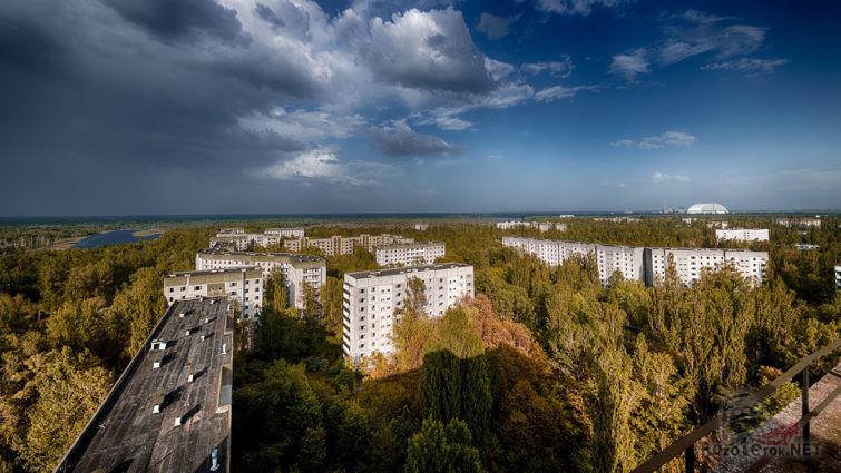Панорама города в зоне техногенной катастрофы