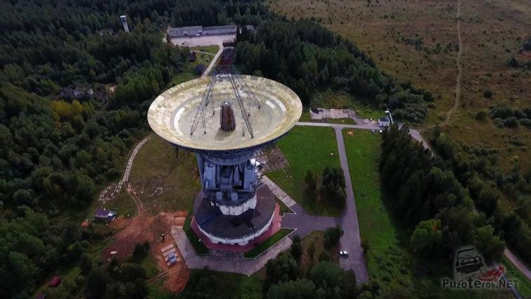 Радиотелескоп обсерватории в Калязине