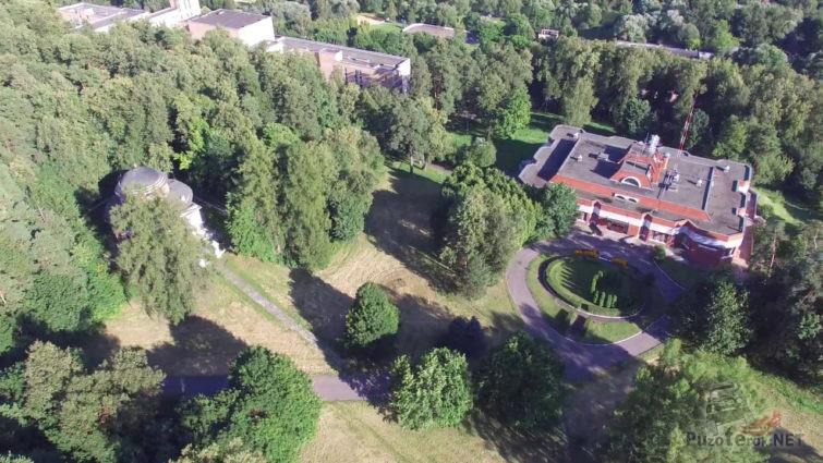 Вид сверху на парк усадьбы Семёновское-Отрада