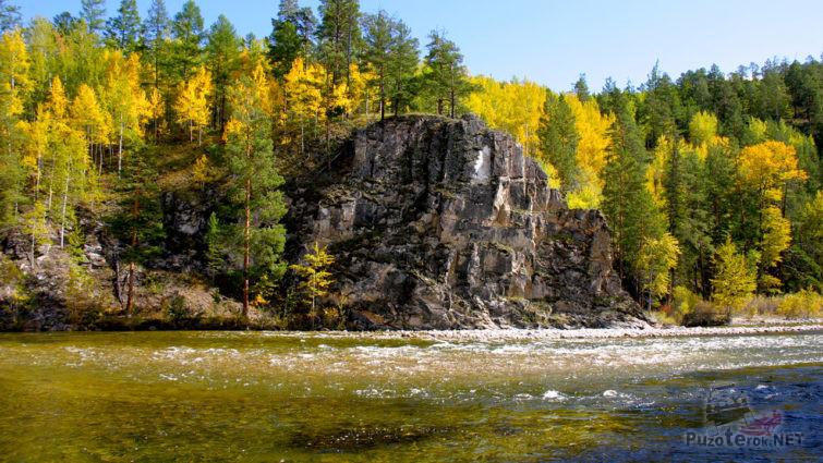 Осенний лес на берегу реки Баргузин