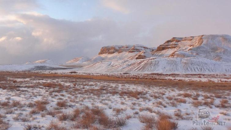 Зима на плато Устюрт