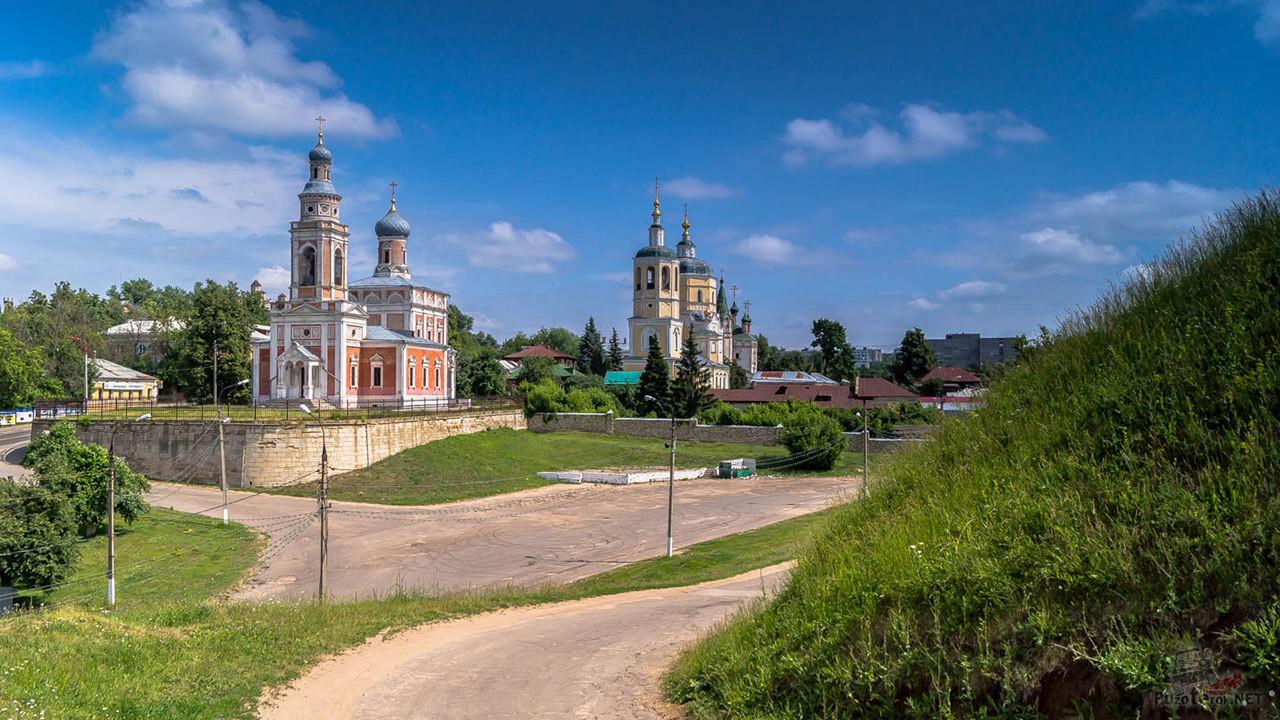 Дорога к храмам на Соборной горе